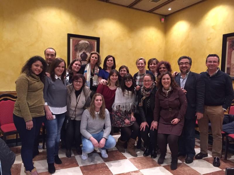 Reunión de trabajo en La Bañeza con empresarias locales