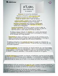 Infografía Ayudas para enfrentar al COVID-19