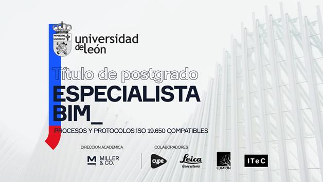 Últimas 5 plazas en el Postgrado Especialista Procesos BIM por la Universidad de León