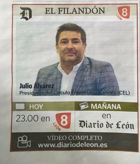 El presidente del CEL, protagonista de El Filandón de La 8 León, 4 de noviembre