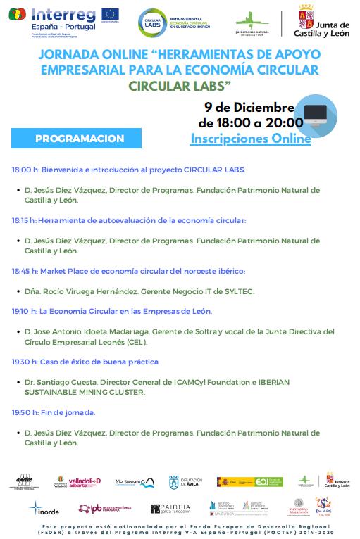 Jornada online Herramientas de apoyo empresarial para la economía circular