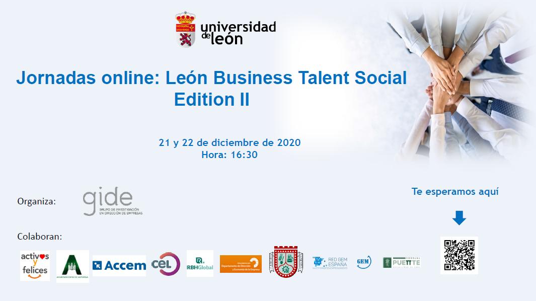 Jornadas online: León Business Talent Social. 21 y 22 de diciembre