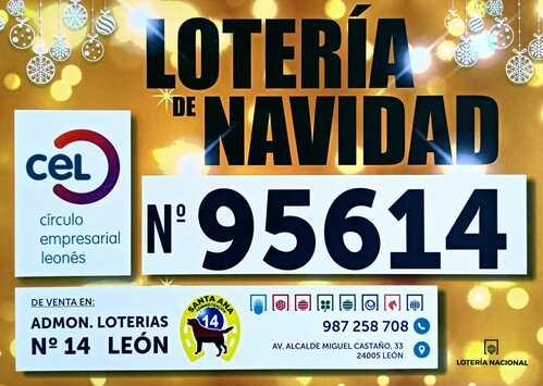 Ya está a la venta el número 95614 de la Lotería de Navidad del CEL